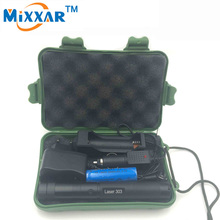 RU ZK30 5000 mw 303 Green Laser Pointer Laser Adjustable Focal Length with Star Pattern Filter +18650 battery charger + Box