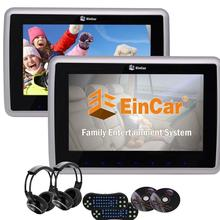 Eincar 2PCS Car pc Headrest Monitors Wide LCD Screen Car DVD Player Support USB SD FM IR Dual Wireless Headphones Remote Control