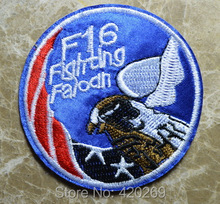 F16 Fighting Falcon ~ fighter combat aircraft Iron On Patches, Made of Cloth Guaranteed 100% Quality Appliques+ Free Shipping!!!(China)
