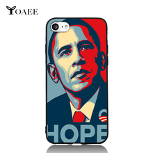 Obama Hope Fun Art For iPhone 6 6s 7 Plus Case TPU Phone Cases Cover Mobile Protection Decor Gift(China)