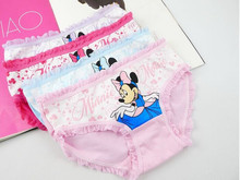 6pcs/lot 2015 new fashion children panties girls' cartoon briefs female child underwear lovely cartoon panties children clothing(China)