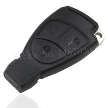 Replacement 3 Buttons Smart Key Case  fob Case Shell With Battery Holder clip  For Mercedes Benz with logo Free shipping