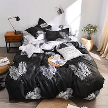 Bonenjoy Duvet Cover Bed Sheet Pillowcase 3/4pcs Queen Size Luxury Bedding Set Cotton Blend Black Trees Printed Double Bed Linen(China)