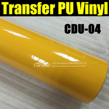 CDU-04 YELLOW HEAT TRANSFER PU FILM WITH FREE SHIPPING,TRANSFER VINYL PU FILM 50X100CM/LOT(1YARD)