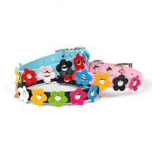 Puppy Pet Dog Collar Cat Neck Strap Necklace Studded Flower Small Dog Accessories For Small Dogs Collars Perros Leashes