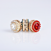 6pcs New Colorful Round Magnet Brooch Pin crystal Hijab Pins Muslim Scarf Clips, drop Shipping etsy supplier(China)