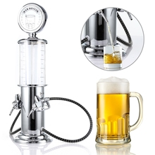 Mini Beer Dispenser Machine with Transparent Layer Design Gas Station Bar Double Gun Pump Drinking Vessels for Drinking Wine(China)