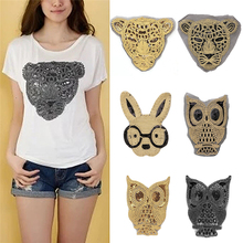 Owl Sequined Iron On Patches For Clothing Sticker Ethnic For Clothes Applique Embroidery T-shirt MY2_30