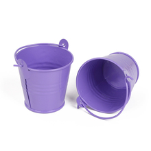 KATE FAVORS New 10x Mini Small Tin Metal Pail Bucket Pails Wedding Party Favours Bombonieres(China)
