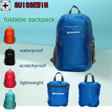 SUISSEWIN Waterproof backpack beach ultra-light backpack folding backpack male women's bag Storage bag travel bag SNK2308
