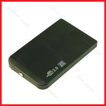 "New Slim 2.5"" SATA HDD USB 2.0 External Box Hard Disk Driver Enclosure Case New Drop shipping"