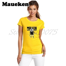 Women Pittsburgh Russia Star 71 Evgeni Malkin hockeying T-Shirt Lady Clothes Penguins Sketch T Shirt Short Sleeve Girl W17110871(China)