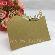 50pcs Music Table Name Place Cards Hot Sale New Laser Cut Table Cards Invitation Card Birthday Party Decoration Suplies