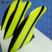 Micfin yellow black Honeycomb Fins fiber Surfboard fins Surf Paddle Board Fin pranchas de surf quilhas fcs surfing fins