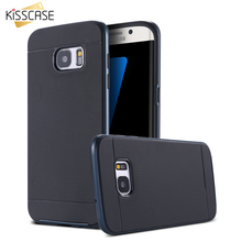 KISSCASE SFor Galaxy S7 Edge Hybrid Cover PC Frame Silicon Armor Case For Samsung Galaxy S7 Edge Tough Mobile Phone Accessories