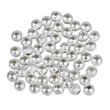 4mm Silver Plated Stardust Round Beads (50)(China)