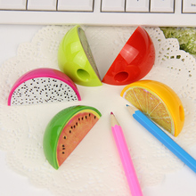 3PCS Cute Creative Fruit Plastic Pencil Sharpener Mini Pencil Sharpener School Supplies Plastic Cutter Knife