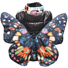 girls vest big butterfly Vests & Waistcoats children Kids casual vest baby girls Leopard grain black Clothes Sleeveless girl