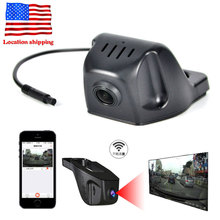 Universal Wifi Car Video Recorder Car Rear View Camera Windshield Rearview Mirror Hidden 1080P DVR Camera Recorder Night Vision(China)