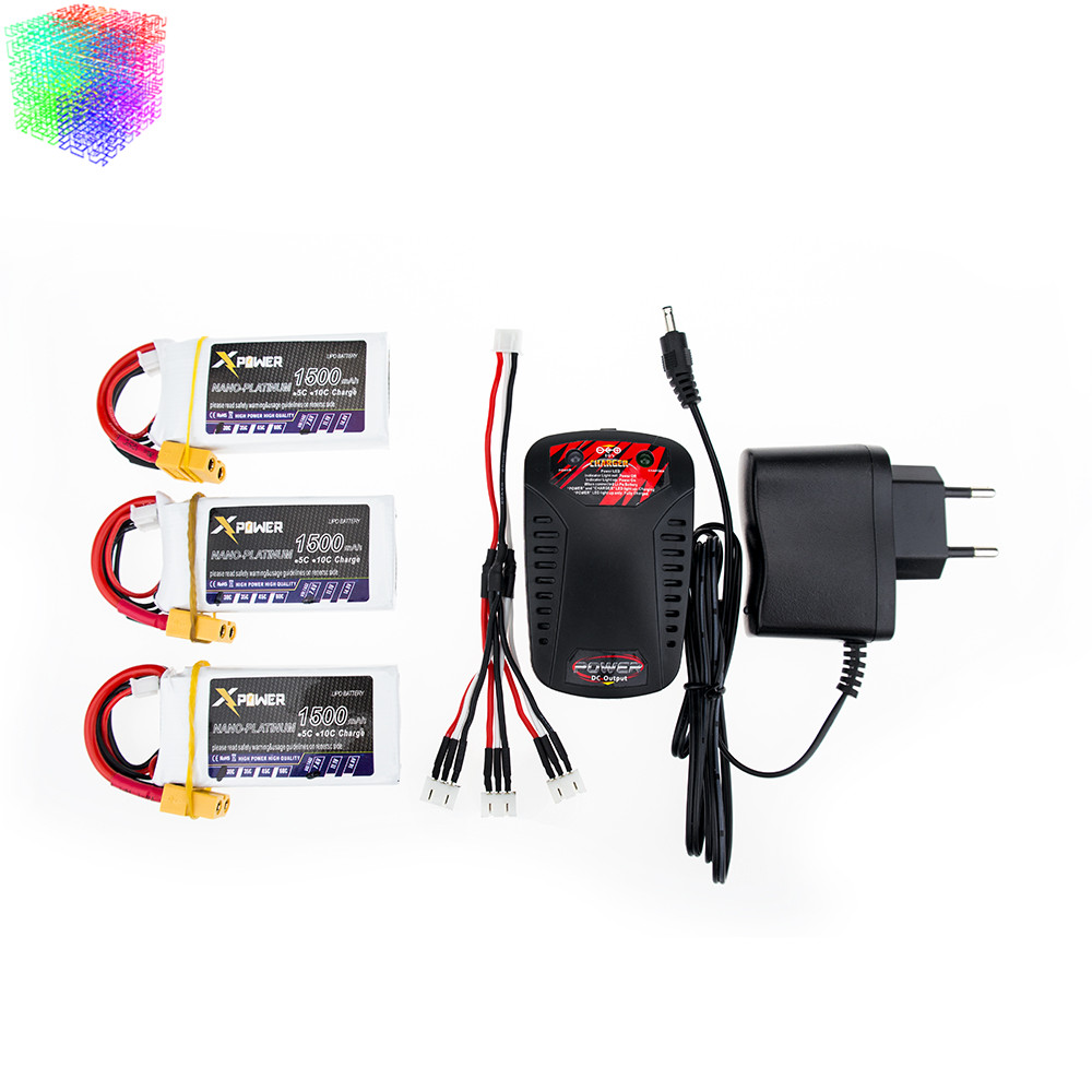 7.4V 1500mAh 2s lipo battery 30C max 35C Xpower batteries 3pcs and charger XT60 / T plug for RC Helicopter Quadcopter drone part<br><br>Aliexpress