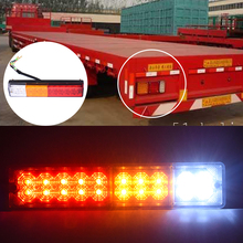 2pcs 12V Waterproof 20leds Trailer Truck LED Tail Light Lamp Car-Trailer Taillight Reversing Running Brake Turn Lights