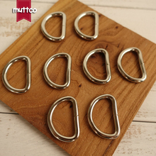 DIY for Dog Collar 2.5cm Needlework Luggage Sewing handmade manual buttons D Ring semi ring Buckle accessories DK-009(China)
