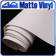 Wholesale White Matte Vinyl Car Wrap sticker for car color alteration 30m/roll with air bubble free FedEx Free Shipping(China)