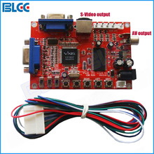 3pcs / set VGA to CGA CVBS S-Video Arcade Games Converter Board 5V Video Game Converter with Wire Harness for CRT Monitor