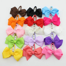 New 2016  Hot sale girl ribbon bow with clip  Baby Boutique hair clips Girl's butterfly Hairclips children hair accessories