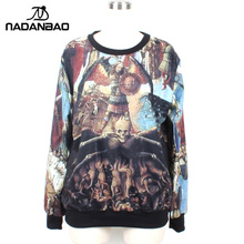 NADANBAO Fashion Pullovers Digital Print European Painting Moleton Women Sweatshirt Hoodies - Shop417928 Store store
