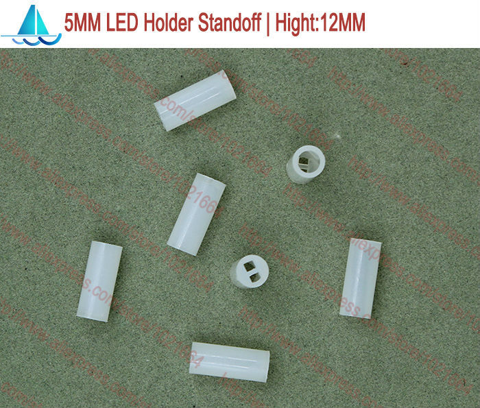 200pcs/lot  5MM LED Lamp Holder Hight:12MM Light Emitting Diode Spacer Support Standoffs(China)