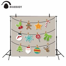 Allenjoy photography theme background Cartoon Cute Candy Elk Christmas natural children photos camera fotografica photocall