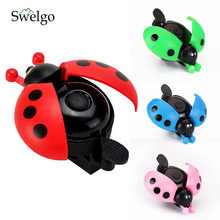 10pcs Lovely Kid Beetle Ladybug Ring bicycle Bell For Cycling Bicycle Bike Ride Horn Alarm bike trumpet horn bicycle bell kids(China)