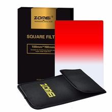 "Zomei Gradual Red Square Z-PRO Series Filter for Cokin Z zomei Hitech 4X6"" Holder 150*100 mm"