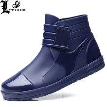 451bb188b3b Homens Pvc Botas De Chuva Do Tornozelo Sapatos Sapatos Masculinos Sapatos  de Água Botas de Borracha