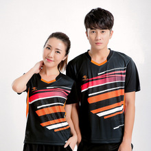 Free Print Quick dry Badminton shirt Women/Men , Tennis t shirt , table tennis t shirt , badminton wear shirt 5068