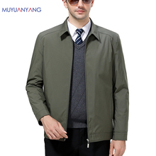Mu Yuan Yang 50% Off Men' s Jackets 2017 Winter Warm Thicken Coats And Jackets Business Casual Men Jackets Solid Zippe Overcoat(China)
