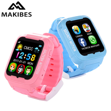 Makibes K3 Kids GPS Watch MTK2503 Touch Screen Deep Waterproof Google Map SOS Button Watch 16G with Camera For Child GPS Locator(China)