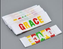 \customized garment labels 1000pcs/lot separate cut custom textile labels private obaowoven and tags for clothing