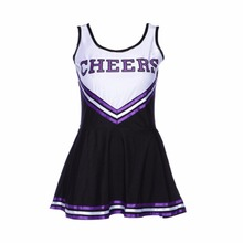 Feme Fancy Dress Costume costume cheerleader Sexy Costumes Girls Cheerleader Uniform School Girl Costume(China)