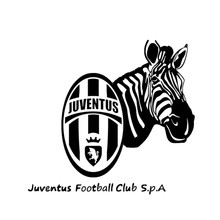 New Large Zebra Wall Stickers Football Juventus Trade Carved Wall Stickers(China)