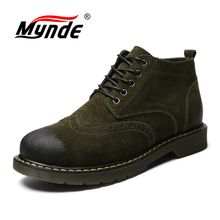 Mynde Genuine Leather Men Boots) 가 겨울 퍼 Ankle Boots 패션 신발쏙 ~ Lace 업 Shoes Men (High) 저 (Quality Vintage Men 신발(China)