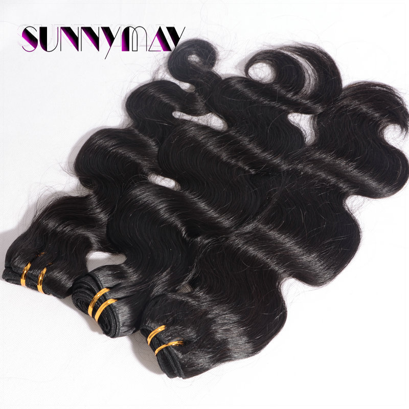 High Quality Body Wave Hair Weft Unprocessed Virgin Indian Hair Weave Bundles Natural Color For Black Women<br><br>Aliexpress