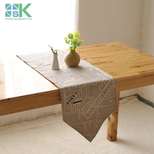 sk table runner Cotton retro nostalgia table flag  double-sided coffee table runner kitchen home decoration