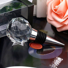 Home Wine Collection Red Wine Bottle Stopper Crystal Glass Vacuum Seale Wine Stopper(China)