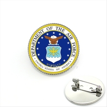 2017 Hot Sale Broche Cute Cartoon Military Brooch Department Of The Air Force Of America Jewelry For Kids Or Children Mi040(China)