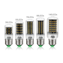 1Pcs CE&RoHs Original Smart IC Real No Flicker Lampada LED Lamp E27 110V 220V 4014 SMD lamparas Corn Bulb light Chandelier