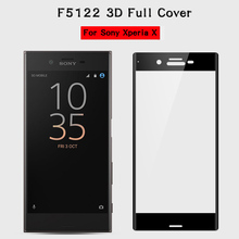 3D Xperia X Tempered Glass For Sony Xperia X 5.0inch XperiaX Dual F5122 Screen Protector 2.5D Protective 9H Full Coverage Glass