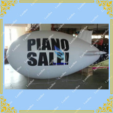 White 4m Long Inflatable Airship / Blimp / Zeppelin with your LOGO for Different Events / Digital printing