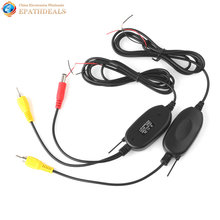 2.4ghz RCA Color Video Car Wireless Transmitter Receiver 2.4g for Rearview Backup Reverse Camera / Front Car Camera